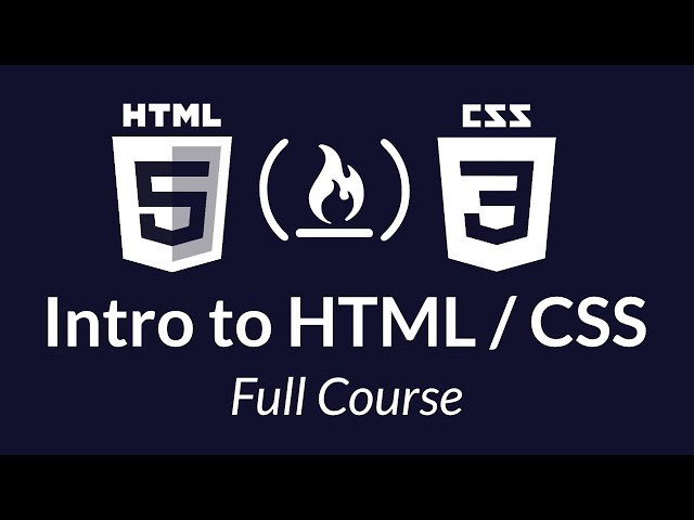 Intro to HTML & CSS - Tutorial