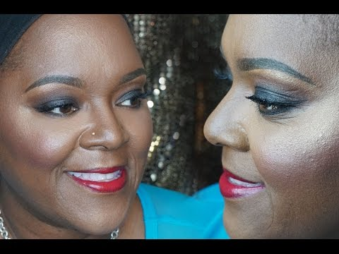 Client Makeup: Classic Smokey Eyes + Red lips  MakeupMesha