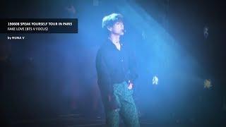 190608 SPEAK YOURSELF Tour In PARIS FAKE LOVE BTS V 방탄소년단 뷔 4K Fancam