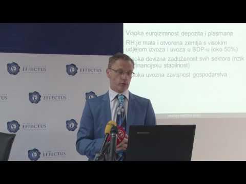 """Izlaganje guvernera Borisa Vujčića """"Obilježja i izazovi monetarne politike Republike Hrvatske"""""""