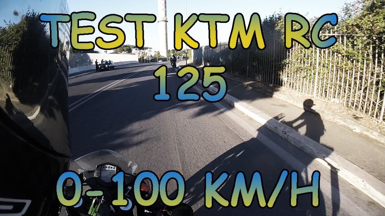 test ktm rc 125 0-100 km/h   scarico arrow - youtube