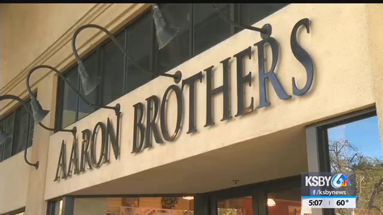 Aaron Brothers framing shops closing - YouTube