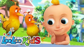 🐦🦅Two Little Dickie Birds - Educational Music For Kids | LooLoo KIDS