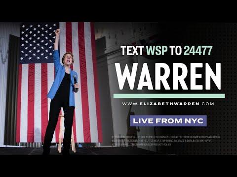 Elizabeth Warren speaks in New York City