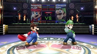 Super Smash Bros. Wii U - All Character Nicknames In Punch-out Boxing Ring