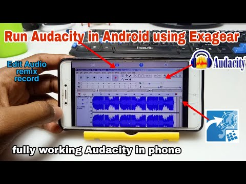 Install & Run Audacity In Android Using Exagear | Pc Softwares In Android | Tech With King