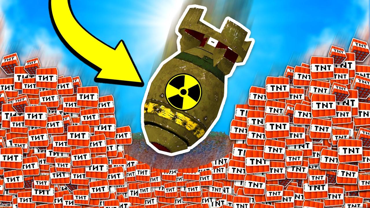 EXPLODING TNT NUKE BOMB MISSILE MINECRAFT TROLL YouTube