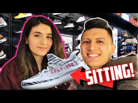 Download Yeezy Sneaker Shopping with my GIRLFRIEND! (THEY SITTING!)