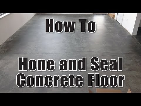 How To Hone And Seal Concrete Floor