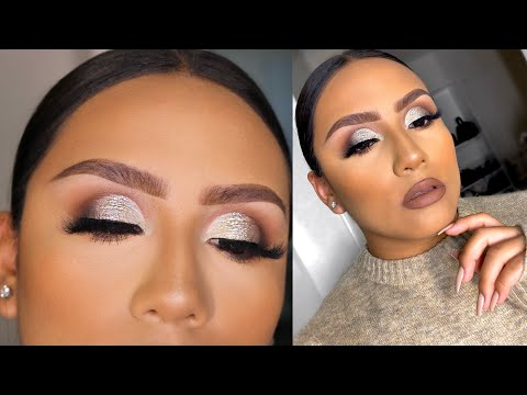 SILVER GLITTER CUT CREASE EYESHADOW TUTORIAL thumbnail