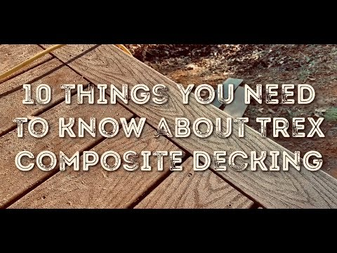How to install Trex composite decking