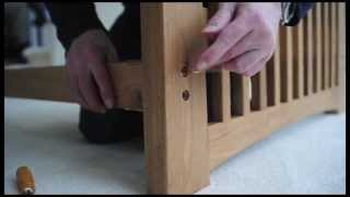 Cambridge Futon, Oak 3 Seater with Sofa Bed Natural Mattress