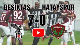 Beşiktaş 7-0 Hatayspor - 2020-2021 sezonu şampiyonu Beşiktaş