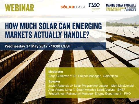 Solarplaza Webinar - How much solar can emerging markets actually handle?