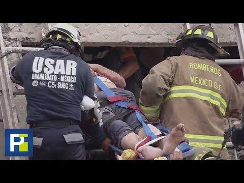 Los emotivos rescates que llenan de esperanza a los mexicanos en medio de la devastación