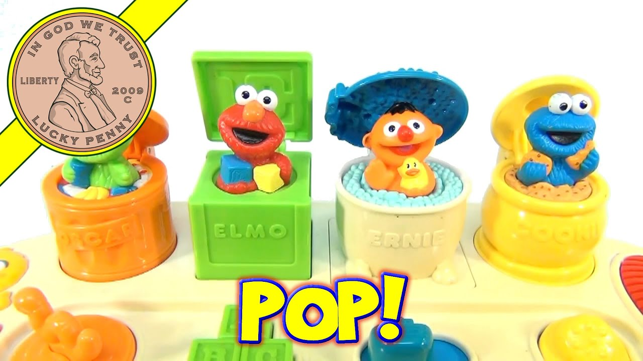 Sesame Street Singing Pop Up Pals 1999 Tyco Toys