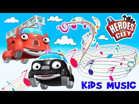 Kids music – The  about Paulie Police Car and Fiona Fire Engine – Heroes of the City