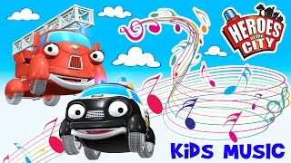 Kids Songs | The song about Paulie Police Car and Fiona Fire Engine - Heroes of the City | ♫ thumbnail