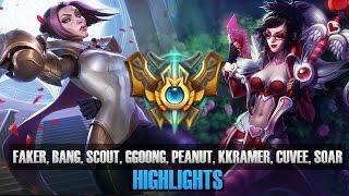 Challenger Match - Faker, Bang, Scout, Ggoong, Peanut, Kkramer, Cuvee, SoaR - KR SoloQ Highlights