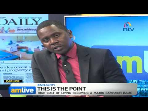 Kenya's soaring cost of living and the petty politics surrounding this issue -#AMLiveNTV
