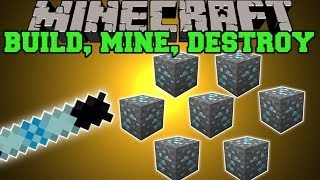 Minecraft: BUILD, MINE, & DESTROY (COMPLETE TONS OF TASKS WITH MAGIC WANDS!) Mod Showcase