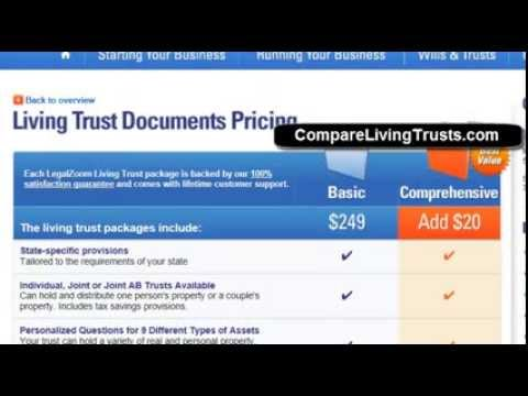 LegalZoom Living Trust Review and Comparison - CompareLivingTrusts.com