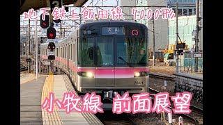 【前面展望】地下鉄7000形 名鉄小牧線 犬山〜地下鉄上飯田線 平安通
