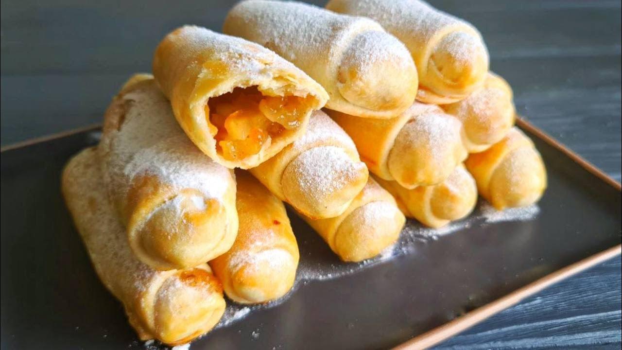 Минутное ПРОЗРАЧНОЕ ТЕСТО - из него любая выпечка станет ВКУСНЕЕ!   ☆ Слоеные пирожки с яблоками