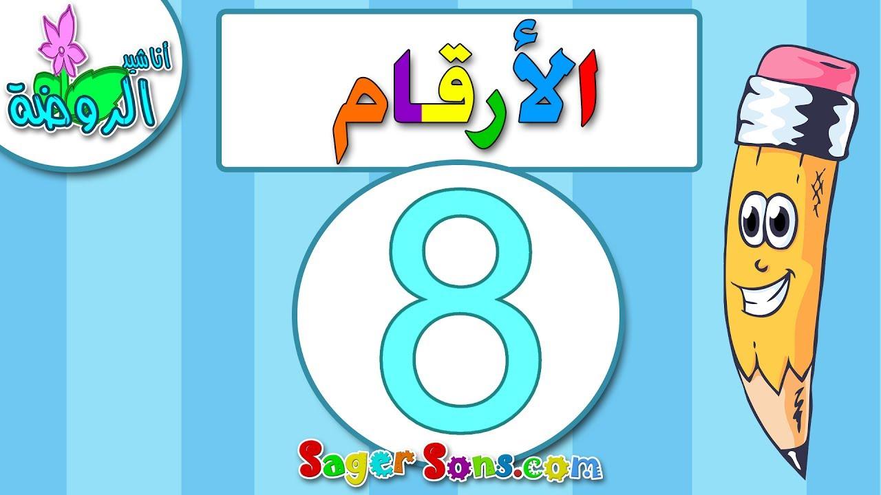 اناشيد الروضة تعليم الاطفال الارقام الرقم 8 المغرب العربي بدون موسيقى بدون ايقاع Youtube