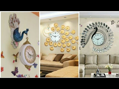 Peacock Wall Clock designs Ideas || Beautiful wall clocks