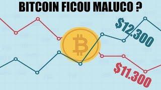 BITCOIN ficou maluco? Veja o que falta para o preço consolidar acima dos $12.000