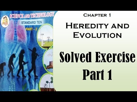 10th Std Chapter Heredity And Evolution Solved Exercise Part 1