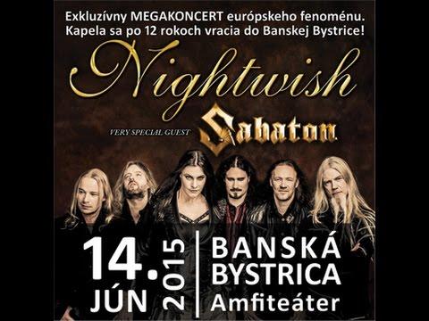 Nightwish-Sabaton-Symfobia-Banská Bystrica - Live - 14. VI. 2015