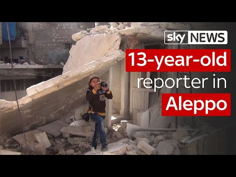 13-Year-Old Reporter In Aleppo