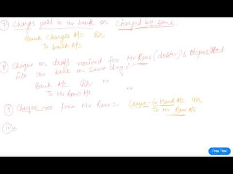Banking Transactions Journal | Class 11 Accountancy Journal