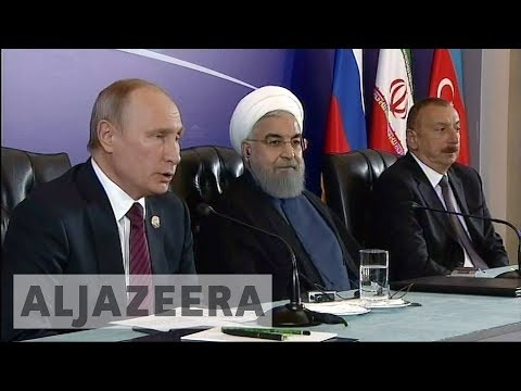 Putin in Tehran speaks of cooperation on Syria and nuclear deal