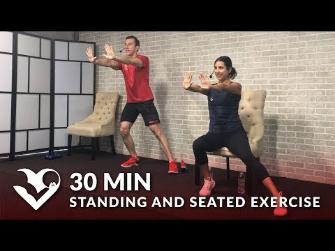 30 Min Exercise for Seniors, Older People, Elderly - Seated Chair Exercises Senior Workout Routines