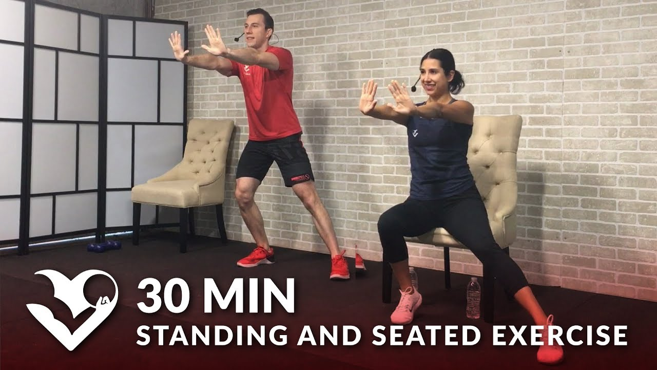 Chair exercises for seniors - 30 Min Exercise For Seniors Older People Elderly Seated Chair Exercises Senior Workout Routines
