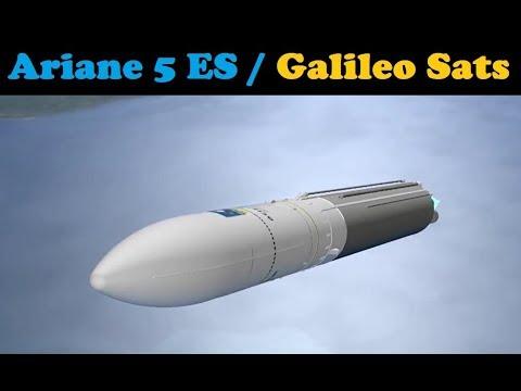 Ariane 5 ES Rocket Launches 4 Galileo Satellites FM-15 - FM-18 (VA 240)