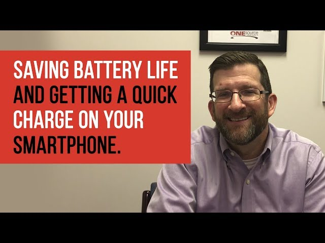 Tech Tip Tuesday | Saving Smartphone Battery Life Tips
