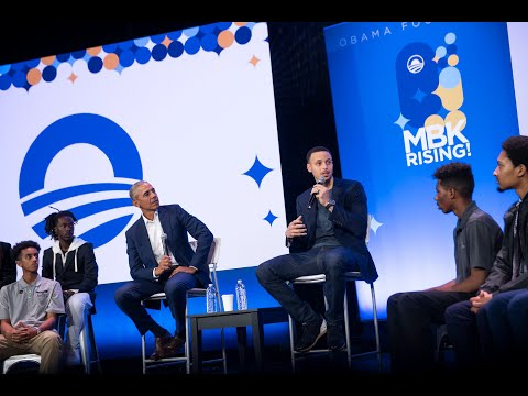 President Obama and Steph Curry at MBK Rising!