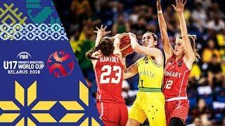 Australia v Hungary - Full Game - 3rd Place - FIBA U17 Women's Basketball World Cup 2018
