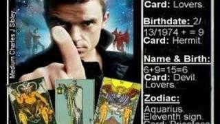 * Robbie Williams Name & Birth With Tarots & Numerology * * Mp3