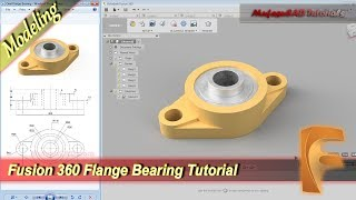 Fusion 360 3D Design Flange Bearing Modeling Tutorial