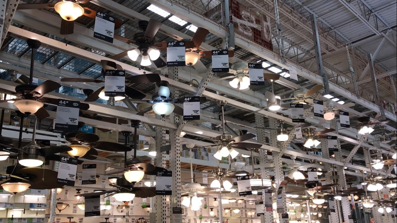 Ceiling Fans on Display at Home Depot (2017) Salem MA