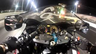 2005 Hayabusa drag racing at Atco Raceway. Go pro hero 2. Dash Cam