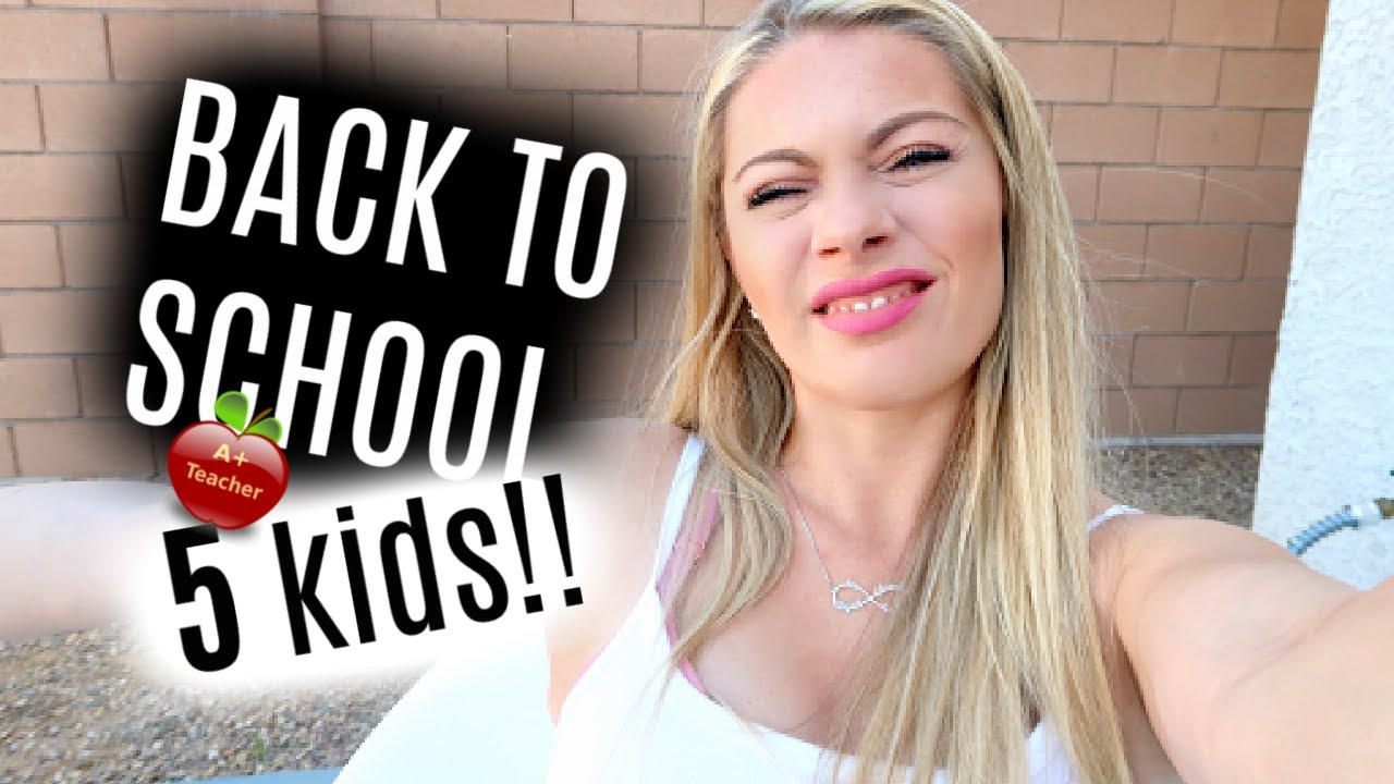 MOM OF 5 BACK TO SCHOOL VLOG 2020 + WHY WE DON'T HAVE A POOL // CHRISTY GIOR