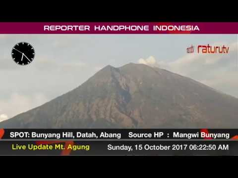 Bali Volcano : Mount Agung – Gunung Agung update real time. 15102017