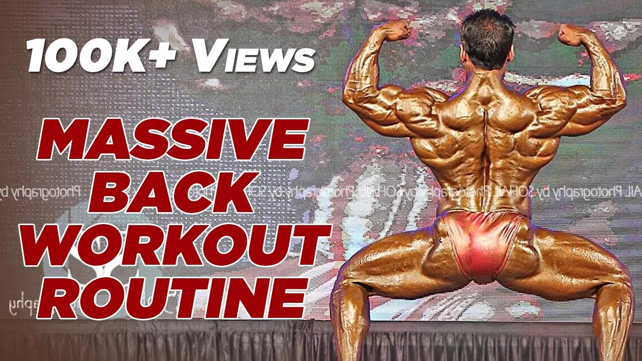Yatinder Singh's Back Hypertrophy Workout Routine