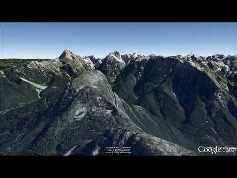 Julian Alps Slovenia Flying Tour In Google Earth